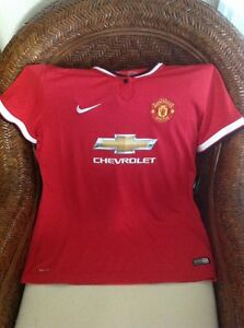 NIKE-Authentic-Manchester-United-Red-Devils-soccerJersey-sz-L-women