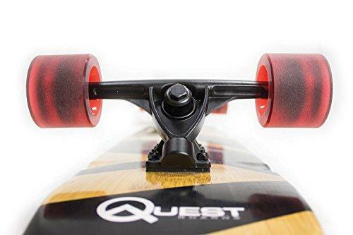 "Quest The Super Cruiser The Original Artisan Bamboo and Maple 44/"" Longboard Skat"