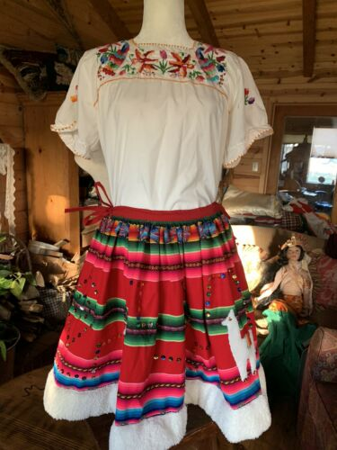 Traditional Mexican skirt FIESTA COSTUME Authentic
