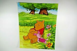"""Encapsulated Disney winnie The Pooh and piglet Sleeping Poster 20 x 16 """""""