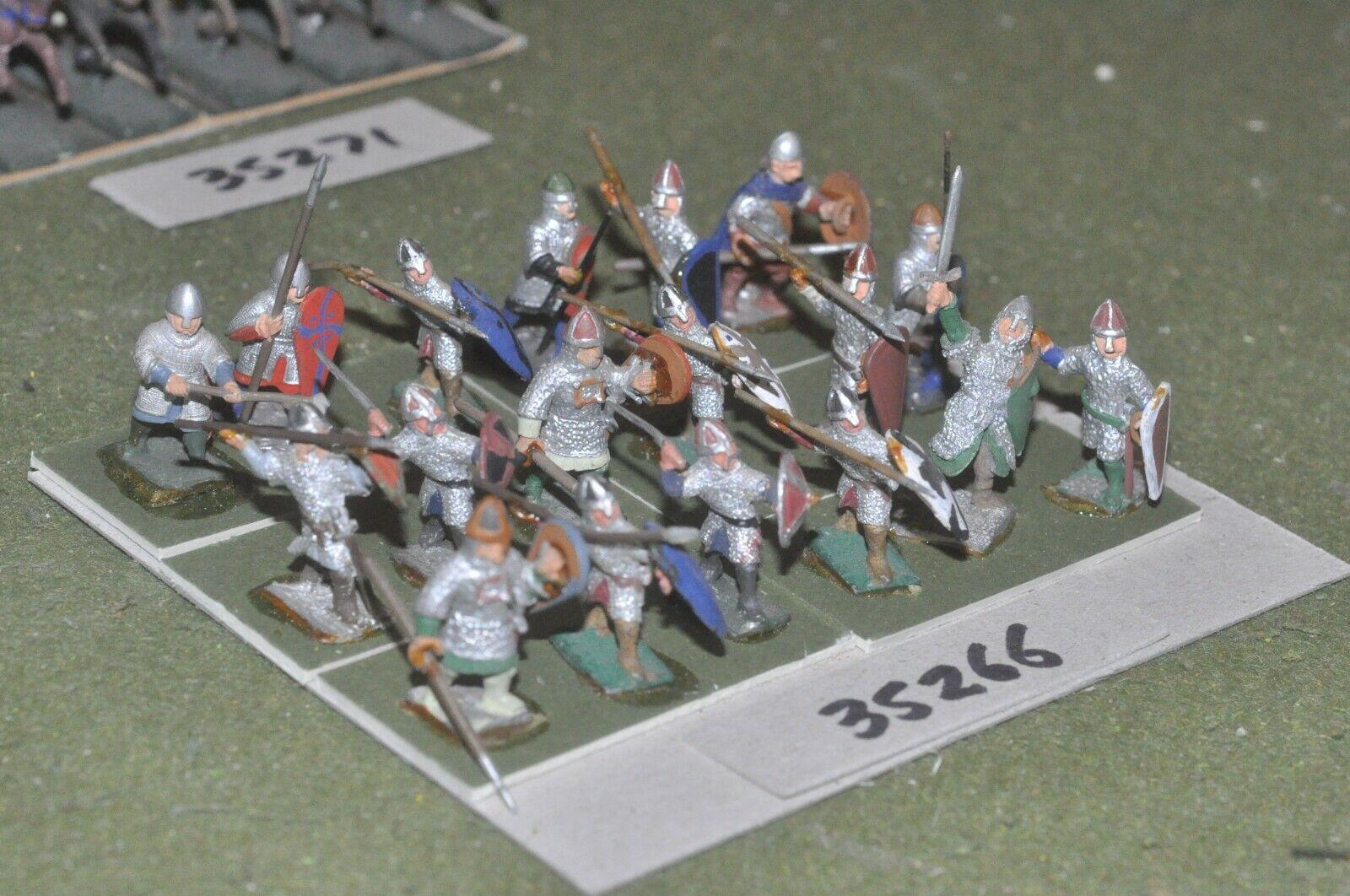 25mm dark ages   anglo-danish - fyro 18 figures - inf (35266)