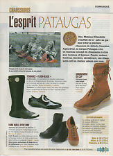Publicité 1990 chaussure  ///   l'esprit  PATAUGAS