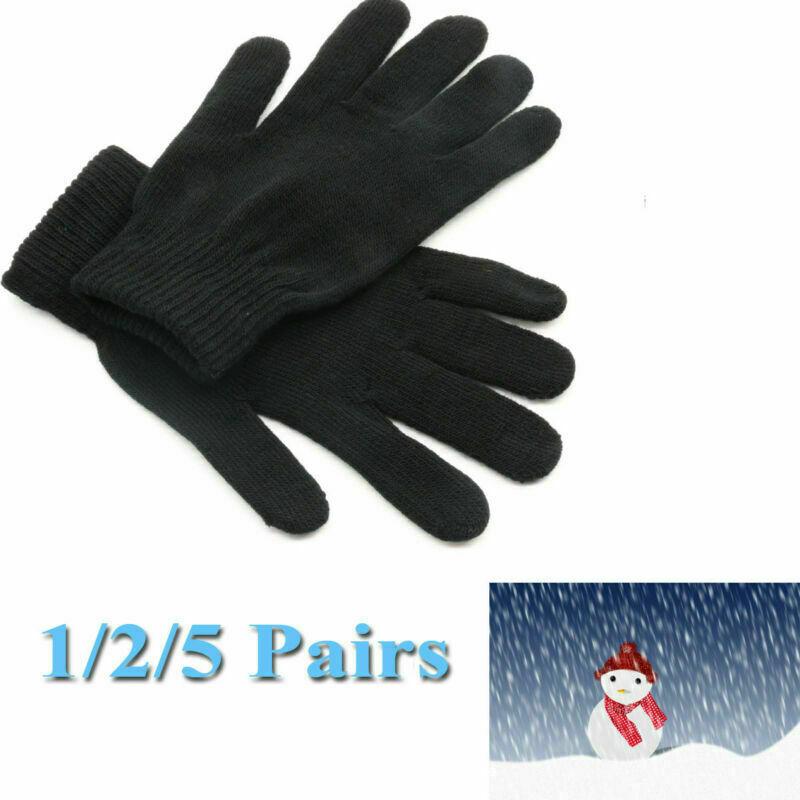 Unisex Black Magic Warm Stretch Winter Thermal Gloves Handy Basic Gloves Funeral
