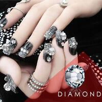 1440 Mix Size White Rhinestone Flatback Crystal Nail Art  7Tiny Size 1.3MM-4.8MM