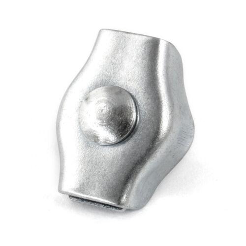 Drahtseilklemmen Simplex 2mm 12mm Verzinkt Drahtseil  Draht Klemmen Seilklemme