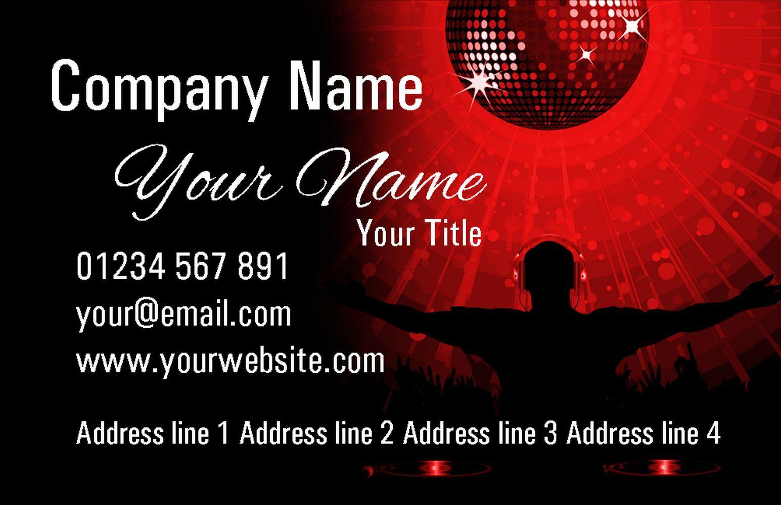 Joyeux Noël Surprise  Rouge DJ cartes de visite visite visite personnalisées 0f5338
