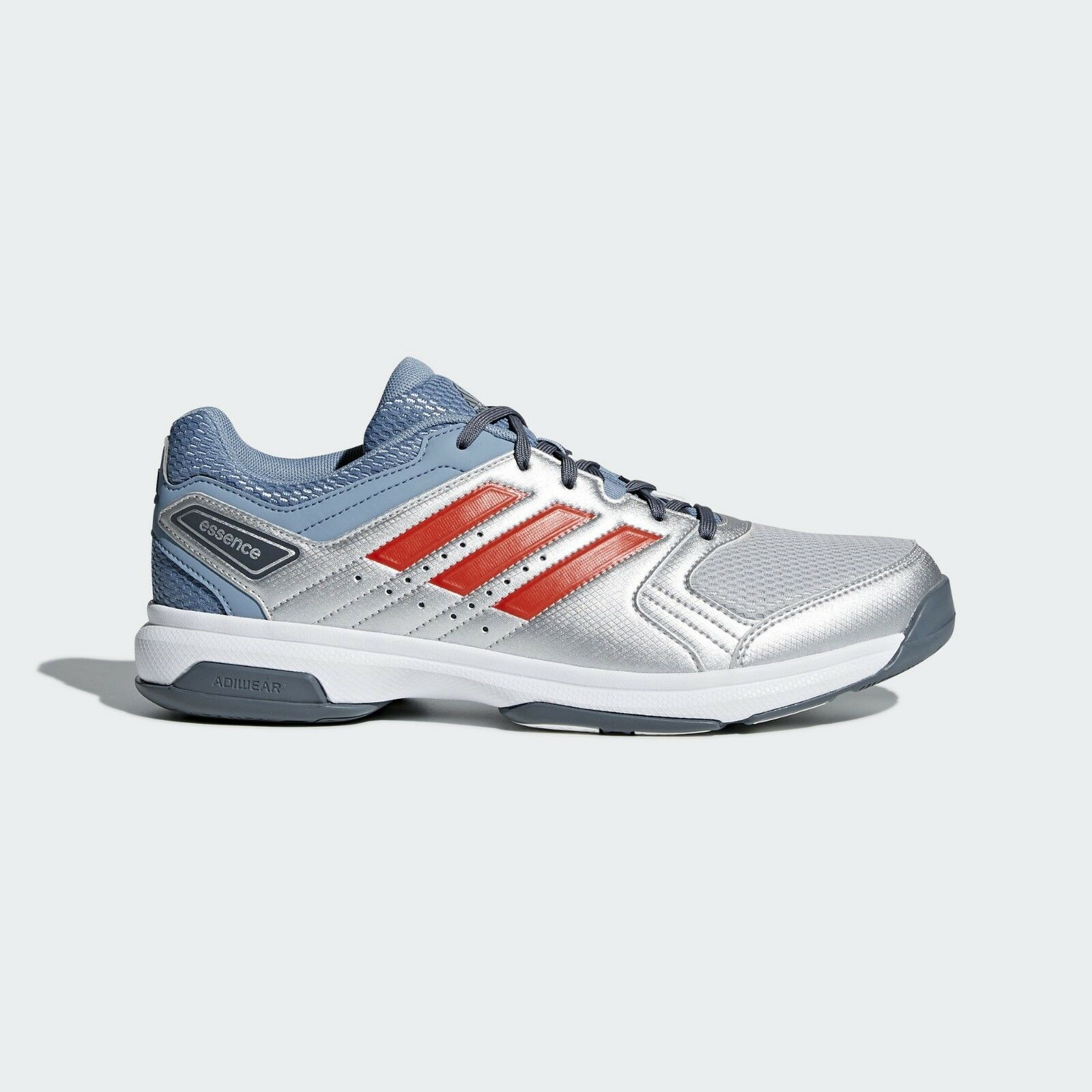 Adidas Essence Schuhes for Indoor Sports Handball Basketball - Silver and ROT