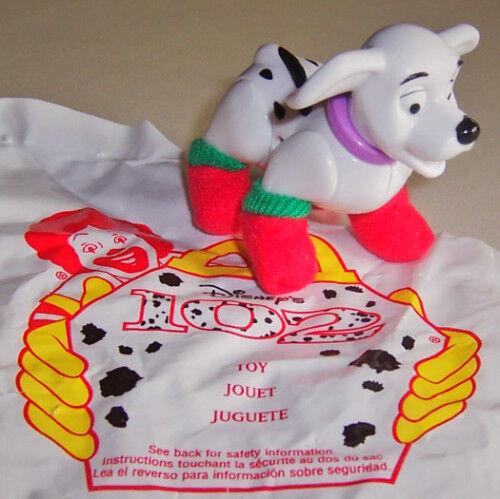 "2000 McDonalds//Disney 102 Dalmatians #58 Brand New! /""CHRISTMAS FELT BOOTIES/"""