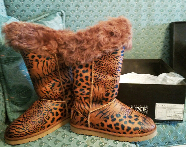 Australia Luxe Collective Foxy Chestnut Safari Sheepskin Boots sz 7