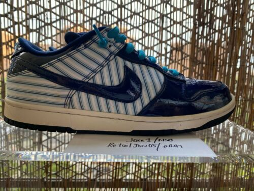 Nike Dunk Low SB Blue Avenger Patent Leather Size