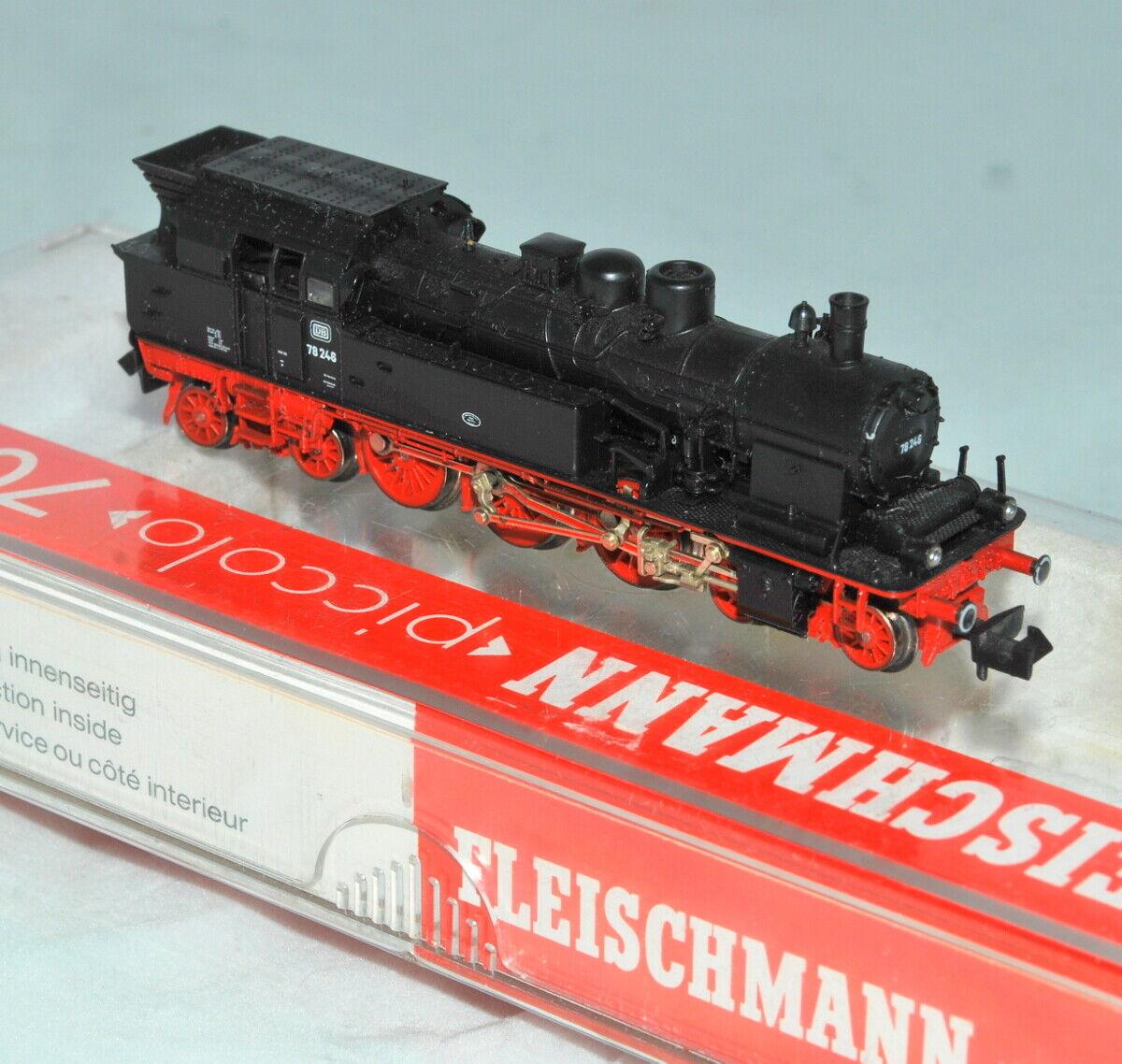 Fleischmann N 7078 4-6-4T Class 78 748 Steam loco in its box