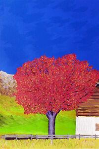 GIANCARLO-FANTINI-034-L-039-albero-034-Serigrafia-POLIMATERICA-cm-50x70