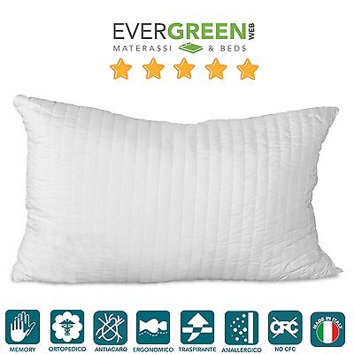 Cuscino Guanciale Memory Effetto Piuma D'oca, Per Letto Materasso Memory Pillows