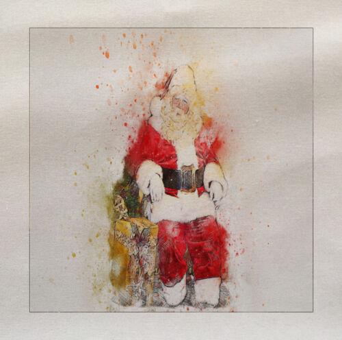 Papá Noel Rojo Panel De Tela Algodón Estampado Cojín Tapicería Craft