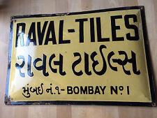 Emailschild/Emailleschild Antik Original AUS BOMBAY INDIEN