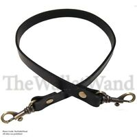 5/8 Wide Black Leather Shoulder Replacement Purse Strap Handbag Bag Handle