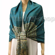 New Womens India Paisley Silk Pashmina Cashmere Shawl Scarf Stole Wrap Scarves