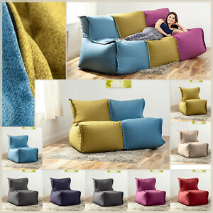Image Is Loading Modular Sofa Beanbag Lounger Bean Bag Couch Seating