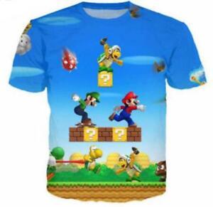 New-Fashion-Womens-Mens-Cartoon-Super-Mario-Bros-3D-Print-Casual-T-Shirt-YT22