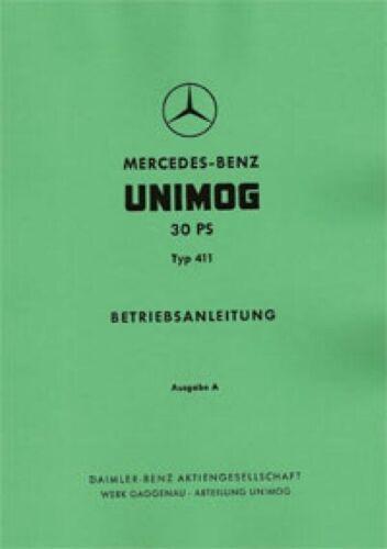 Manuale di istruzioni Unimog 30 PS-tipo 411