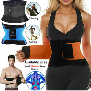 Lady Sweat Waist Trainer Body Shaper Sauna Tummy Trimmer Belt Corset Weight Loss