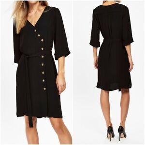 New-Ex-Wallis-Ladies-BLACK-Dress-Work-Formal-Party-Wear-Size-10-20