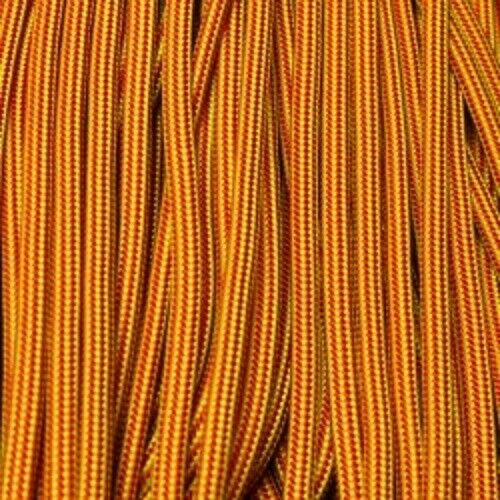 Red and Canary Yellow Boot Laces *Guaranteed for Life* 550 Paracord Steel Tip