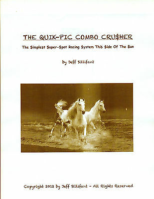 Jeff Sillifant's THE QUIK-PIC COMBO CRUSHER t'bred horse racing method   HOT! | eBay