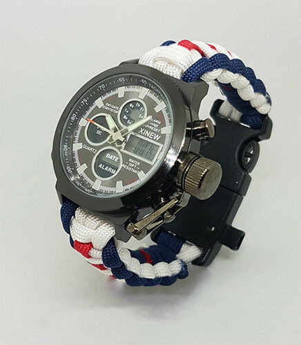 Paracord Watch in RAF Brize Norton Colours for The Strap  Water Resistant  fair prices
