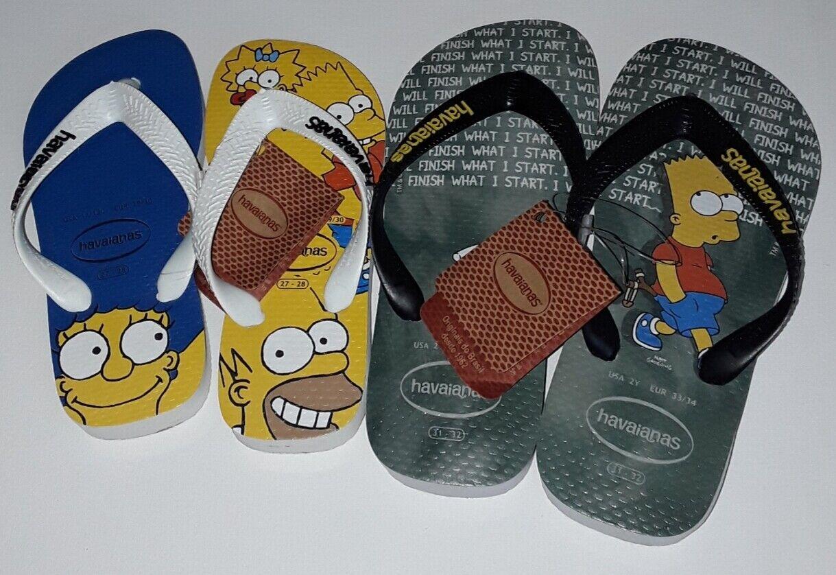 Flip Flops HAVAIANAS SummerHolidays Sandals Simpson's Blue Yellow Fashion SeaBoy