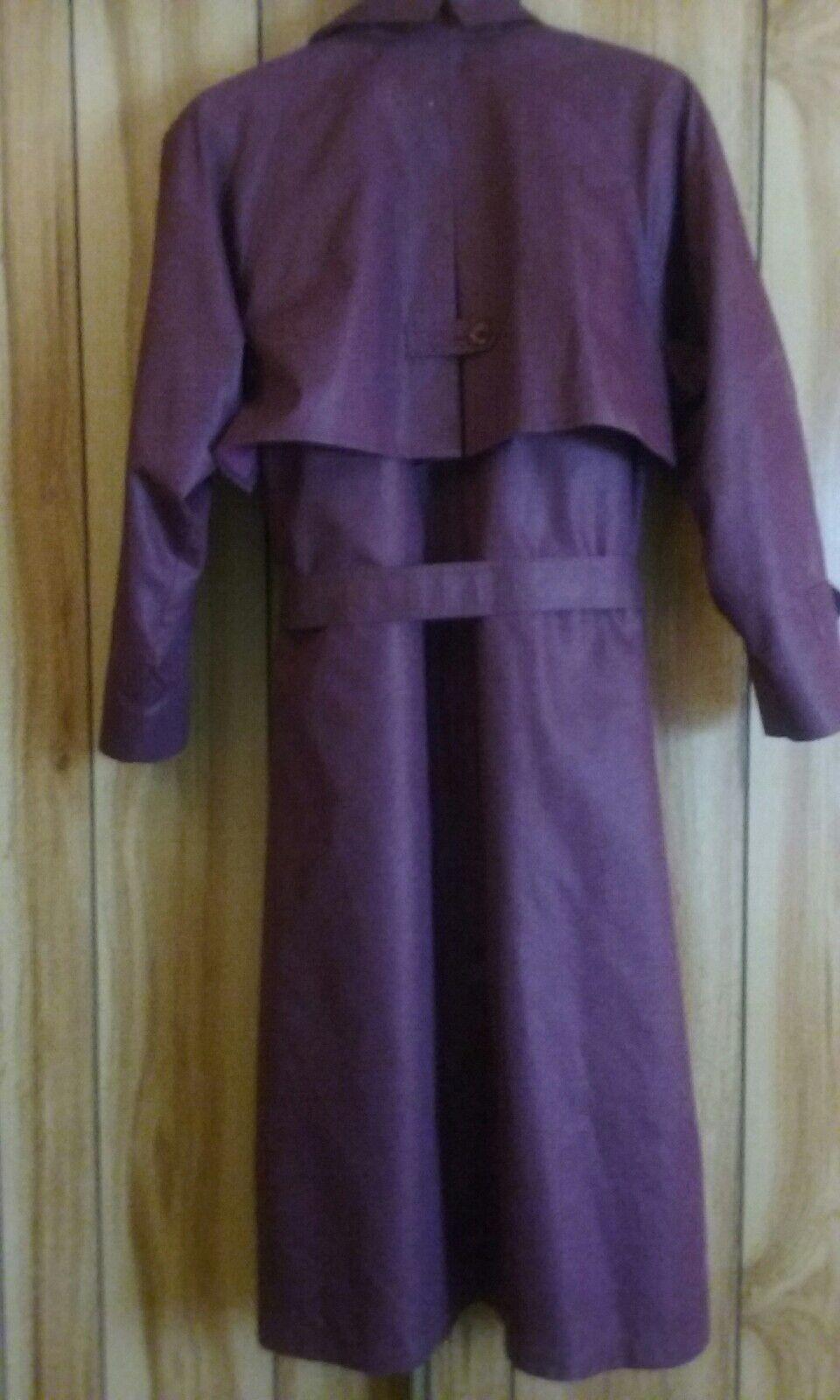 London London London Fog Ladies 14p burgandy long coat with zip out liner 355006