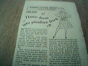 ephemera-advert-1941-dance-dress-into-pinafore-frock-lux-washibility