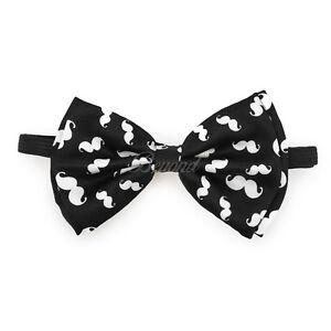 White Music Notes Bow Tie Adjustable Pre-tied Clip-on  Bow Tie Necktie Ties