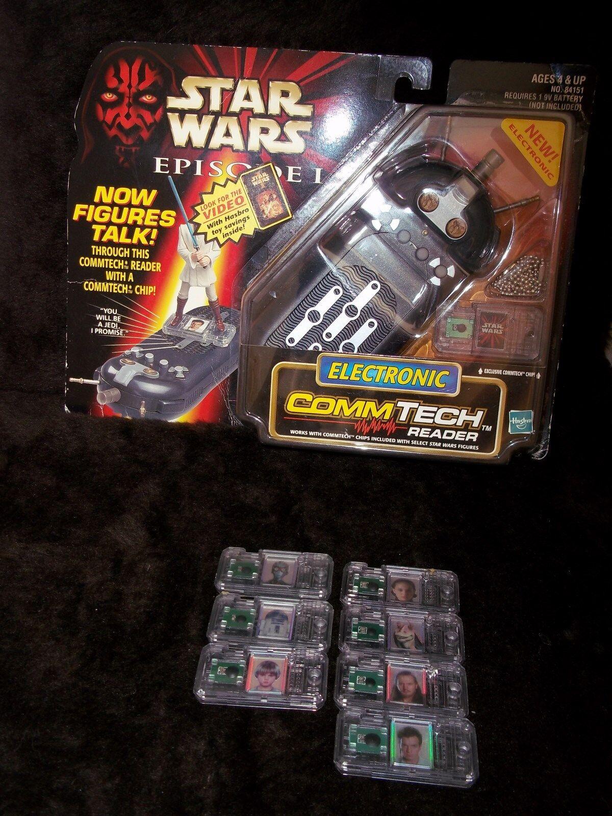 Estrella Wars lector electrónico Comm Tech República Imperio Darth Maul y 7 fichas de comunicación