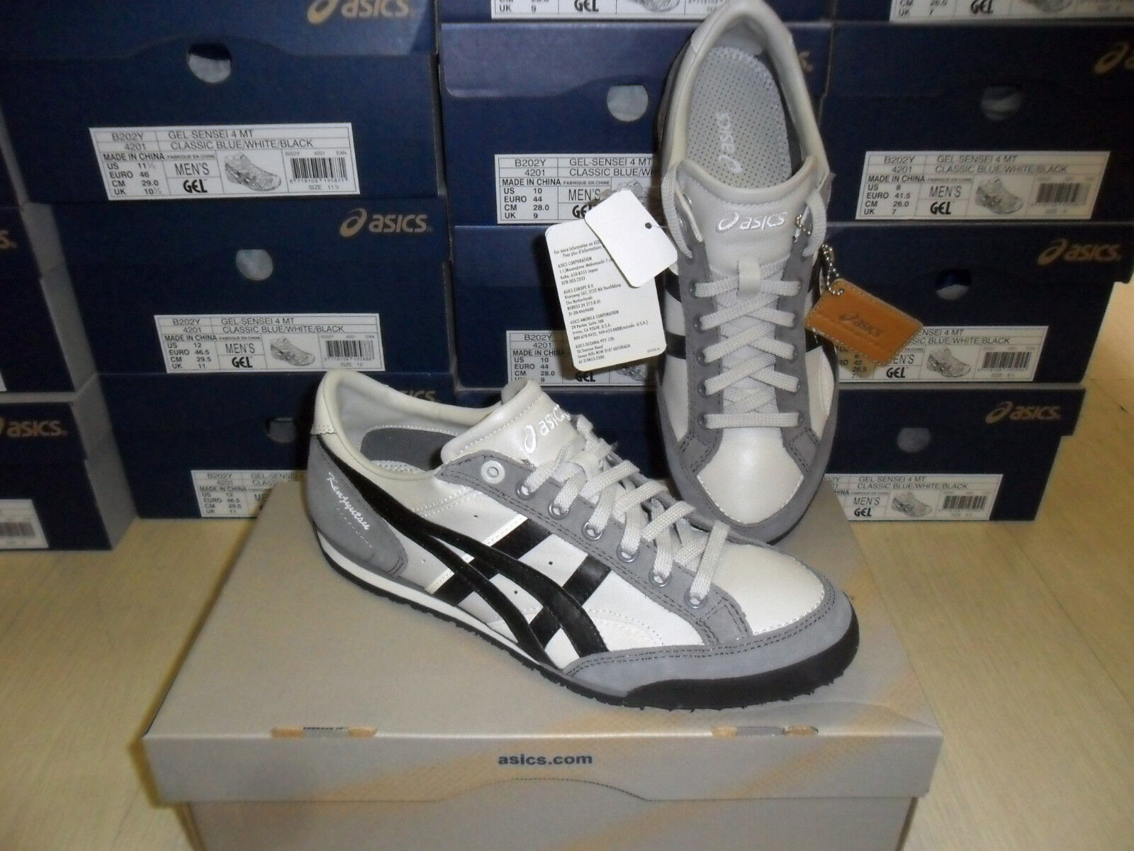 Nr 40,5 asic mode aaron zapatos mode asic zapatos gimnasia h219l-9390 plata 6f8c7c