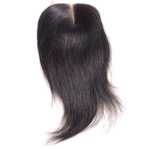 Human-hair-extension-top-lace-closure-4x4-039-039-straight-midpart-natural-black
