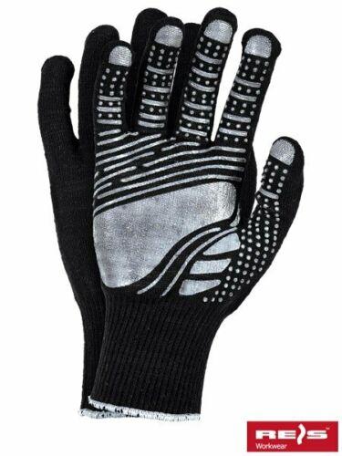 3PAAR  FLOATEX Noppen Handschuhe Gummiert Strickhandschuhe Beschichtet Gr.9