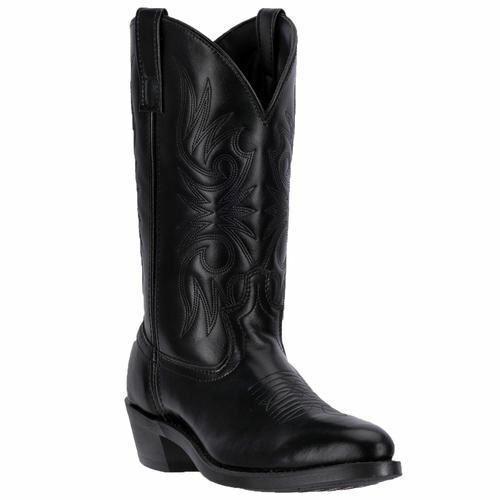 Larougeo Homme Paris Western Cowboy Bottes en cuir noir 4240