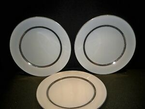 3-FARBERWARE-039-IMPERIAL-PLATINUM-039-DINNER-PLATES-10-3-4-039-039