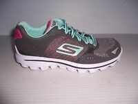 Skechers Go Walk 2 Flash Girls Gray Athletic Shoes Size 13