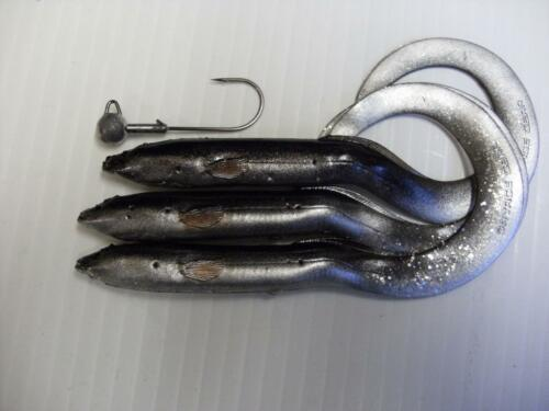 Neuf Noir Argent 15 cm Savage Gear Real Eel Leurre Jigg Pike Perch Zander Fishing