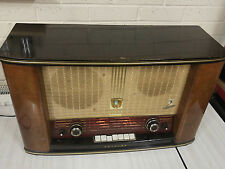 Very Rare 1950's Philips BX755A Bi-Ampli Valve Radio 9 valves Large Size