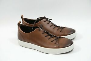 Details about #289 ECCO Soft 8 Brown Leather Men Sneaker Size 44