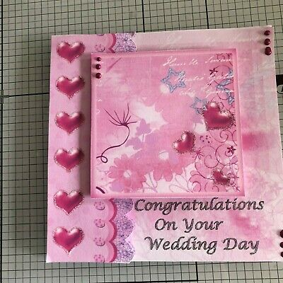 ME TO YOU TATTY TED STUNNING CUT OUT GLITTERED ON YOUR WEDDING DAY GREETING CARD