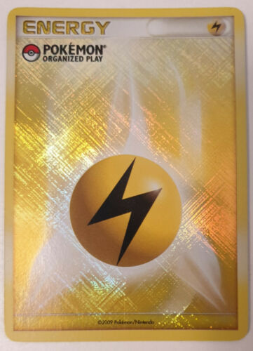 Pokémon Card Lightning Energy 2009 Promo Organized Play League HOLO English