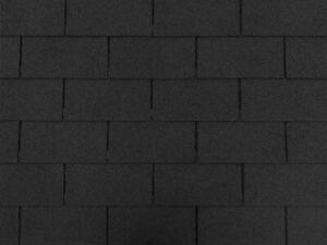 Dachschindeln-9-m-Rechteck-Form-Schwarz-3-Pakete-Schindeln-Dachpappe
