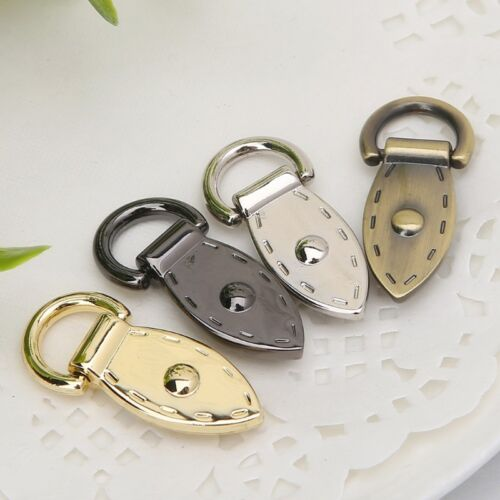 DIY Leaf Shape D Buckle Metal Buckles Handbag Strap Clasp Keyring Dog Chain Hook