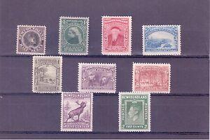 Newfoundland MH F-VF Set of 9 Stamps