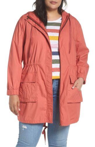Zip 18w Hættejakke Parka Pink Nordstrom Cotton Anorak Cedar 2x Caslon Tech FSwPCq