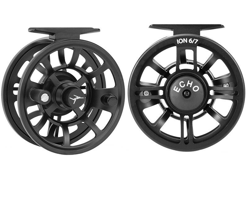 ECHO ION 8 10 HYBRID LARGE ARBOR DISC DRAG FLY REEL FOR AN 8-10 WEIGHT FLY ROD